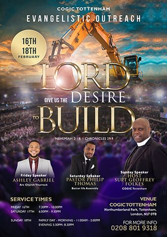 Lord, Give Us The Desire To Build